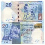 Banknoten Hong Kong Pick Nummer 297 - 20 Dollar