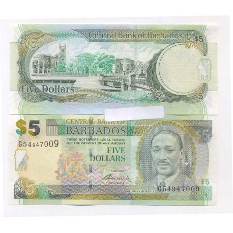 Barbade - Pk N° 67 - Billet de 5 Dollars