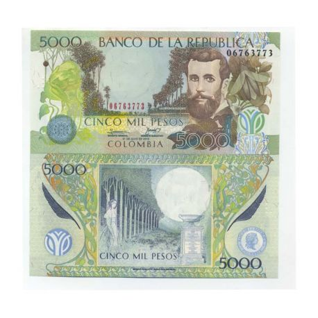 Billets de collection Billets banque Colombie Pk N° 452 - 5000 Pesos Billets de Colombie 10,00 €