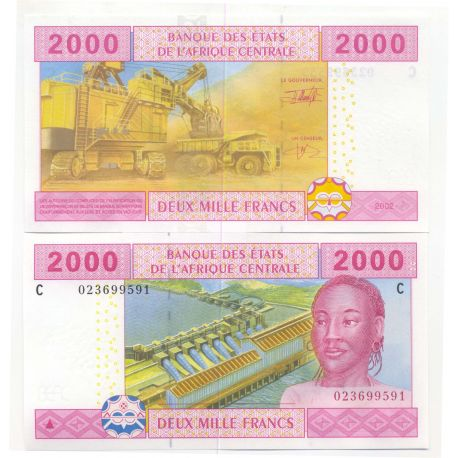 Billets de collection Billets collection Afrique Centrale Tchad Pk N° 608 - 2000 Francs Billets du Tchad 17,00 €