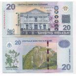 Billets de banque Surinam Pk N° 164 - 20 Dollars