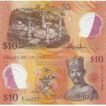 Sammlung von Banknoten Brunei Pick Nummer 37 - 10 Dollar