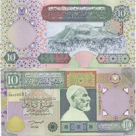 Billet de banque Libye Pk N° 66 - 10 Dinar