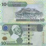 Banknoten Libyen Pick Nummer 70 - 10 Dinar