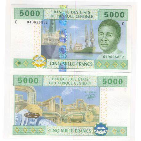 Billets de banque Afrique Centrale Tchad Pk N° 609 - 5000 Francs