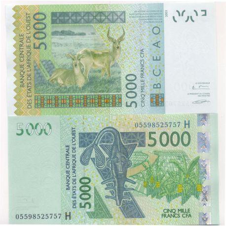 Afrique De L'ouest Niger - Pk N° 617 - Billet de 5000 Francs
