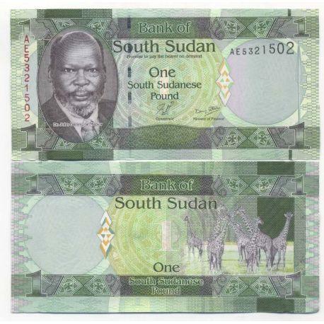 Billets de collection Billet de collection Soudan du sud Pk N° 5 - 1 Pound Billets du Sud-Soudan 4,00 €