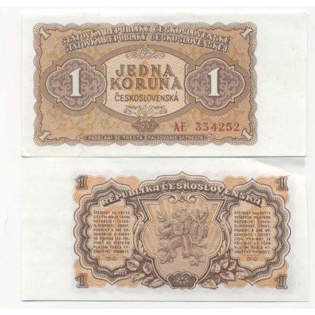 Billets de collection Billet de banque Tchecoslovaquie Pk N° 78 - 1 Korun Billets de Tchecoslovaquie 5,00 €