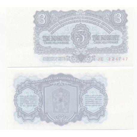 Billets de collection Billets banque Tchecoslovaquie Pk N° 79 - 3 Korun Billets de Tchecoslovaquie 5,00 €