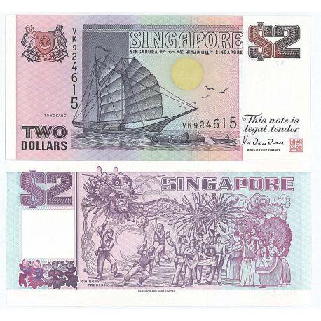 Billets banque Singapour Pk N° 34 - 2 Dollar
