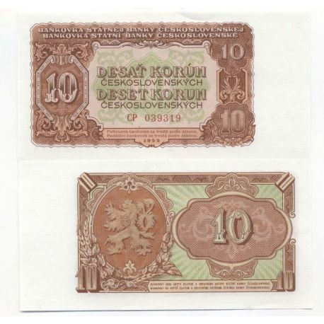 Tchecoslovaquie - Pk N° 83 - Billets de 10 Korun