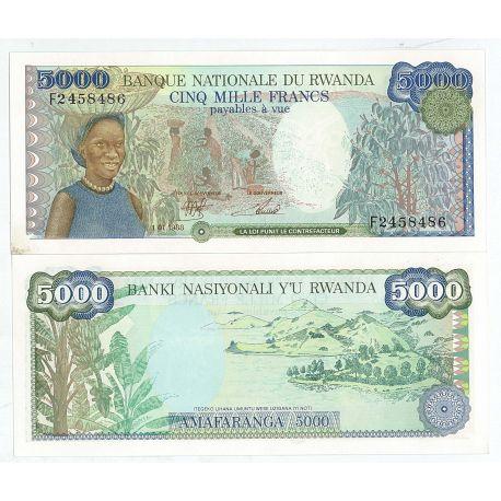Billet de banque Rwanda Pk N° 21 - 1000 Francs