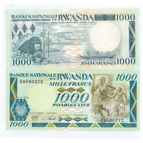 Billet de collection Rwanda Pk N° 22 - 5000 Francs