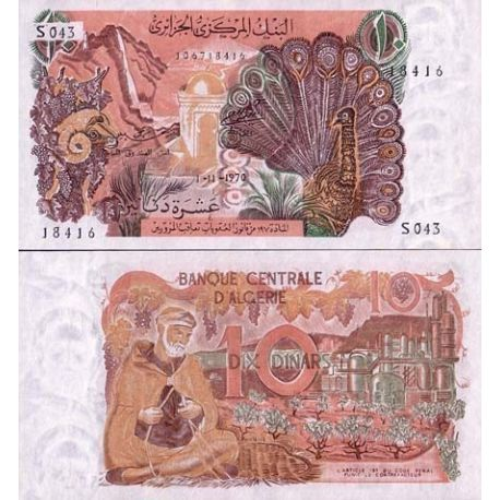 Billets collection Algerie Pk N° 127 - 10 Dinars