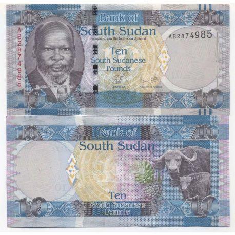 Billets de collection Billets collection Soudan du Sud Pk N° 7 - 10 Pounds Billets du Sud-Soudan 11,00 €