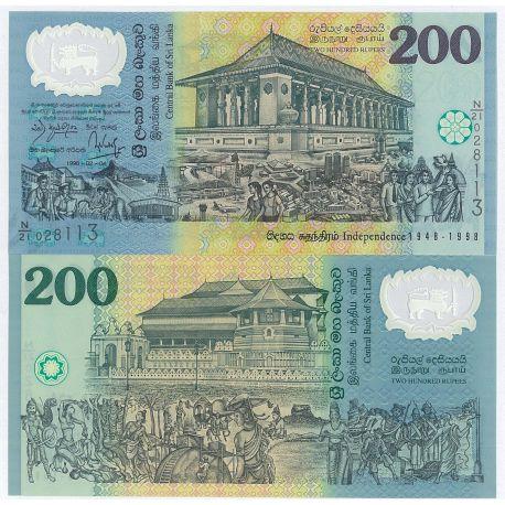 Billets de collection Billets de banque Sri Lanka Pk N° 114 - 200 Ruppees Billets du Sri Lanka 10,00 €