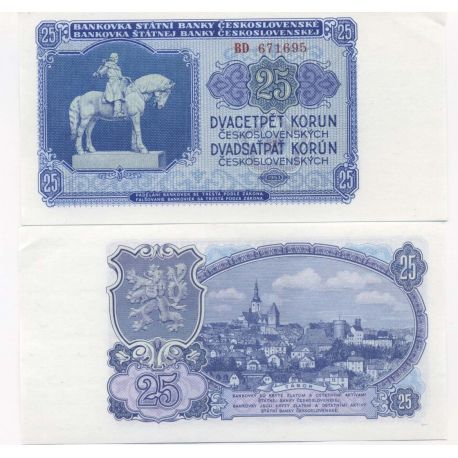 Billets collection Tchecoslovaquie Pk N° 84 - 25 Korun