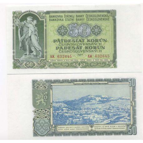 Tchecoslovaquie - Pk N° 85 - Billets de 50 Korun