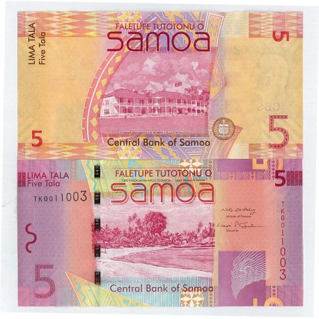 Samoa - Pk N° 38 - Billets de 5 Tala