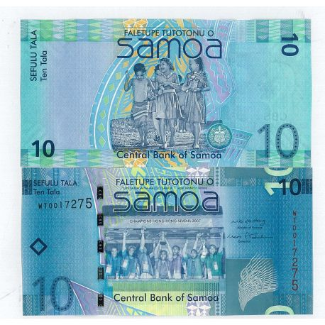 Samoa - Pk N° 39 - Collection billet de 10 Tala