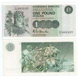 Los billetes de banco Escocia Pick número 211 - 1 Livre 1982