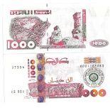 Sammlung von Banknoten Algerien Pick Nummer 140 - 1000 Dinar 1992