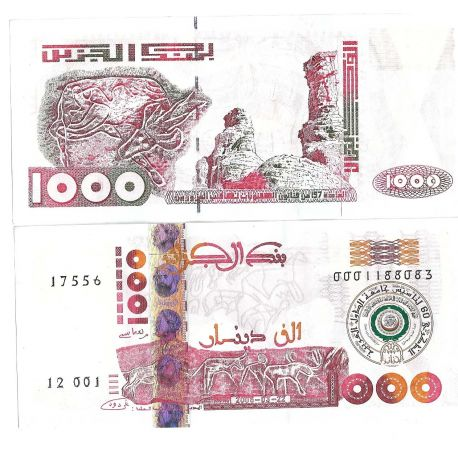 Billets collection Algerie Pk N° 140 - 1000 Dinars
