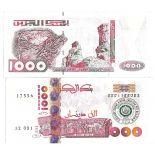Colección de billetes Argelia Pick número 143 - 1000 Dinar 2005