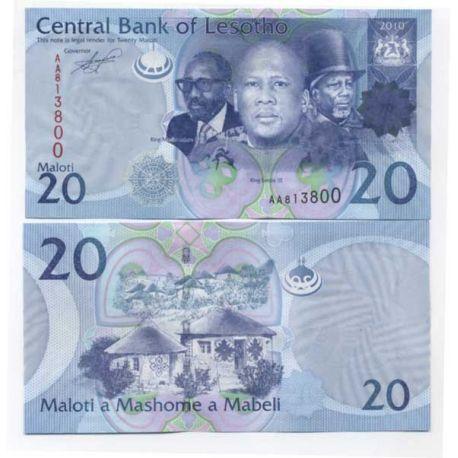 Billet de collection Lesotho Pk N° 22 - 20 Maloti