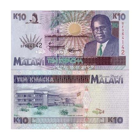 Billets collection Malawi Pk N° 31 - 10 Kwacha