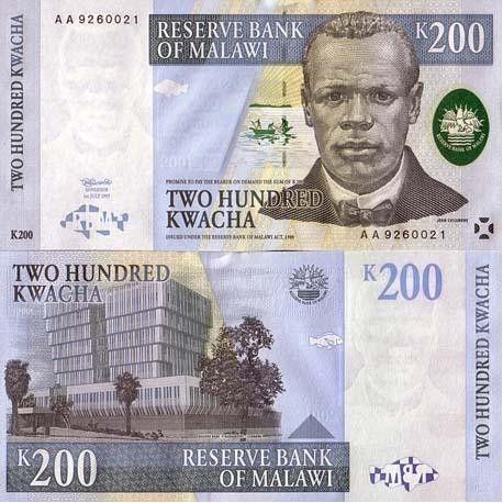 Billet de collection Malawi Pk N° 41 - 200 Kwacha