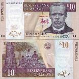Billets de banque Malawi Pk N° 43 - 10 Kwacha