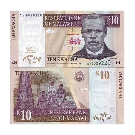 Malawi - Pk N° 43 - Billet de 10 Kwacha