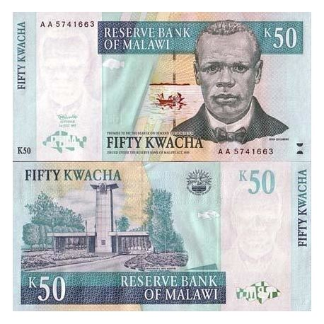 Billets collection Malawi Pk N° 39 - 50 Kwacha