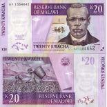 Banconote Malawi Pick numero 44 - 20 Kwacha