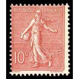 Francobolli francesi N ° 129 Nuevo non linguellato