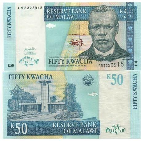 Billet de collection Malawi Pk N° 45 - 50 Kwacha
