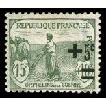 Sellos franceses N ° 164 nuevos sin charnela