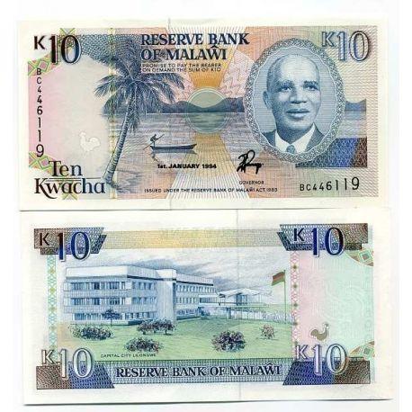 Billet de collection Malawi Pk N° 25 - 10 Kwacha
