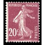 Sellos franceses N ° 190 nuevos sin charnela