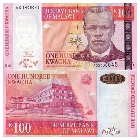 Billet de banque Malawi Pk N° 46 - 100 Kwacha