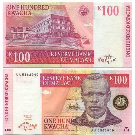 Billet de collection Malawi Pk N° 40 - 100 Kwacha