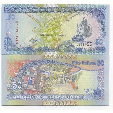 Billets de banque Maldives Pk N° 21 - 50 Rufiyaa