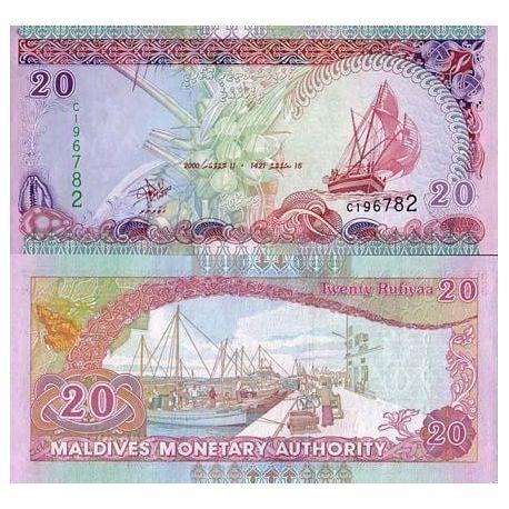 Billets banque Maldives Pk N° 20 - 20 Rufiyaa