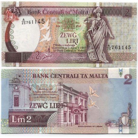 MALTE - Pk N° 41 - Billet de 2 Lira