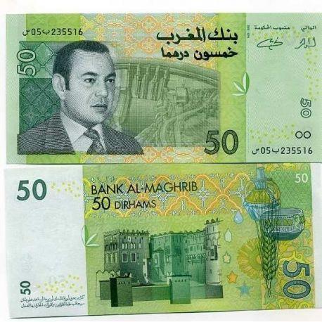 Billets de banque Maroc Pk N° 69 - 50 Dirhams