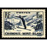 Francobolli francesi N ° 334 Nuevo non linguellato