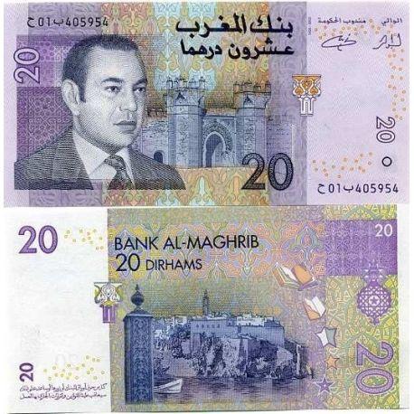 MAROC - Pk N° 68 - Billet de 20 Dirhams