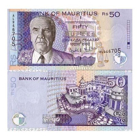 Maurice - Pk N° 50 - Billet de 50 Ruppees