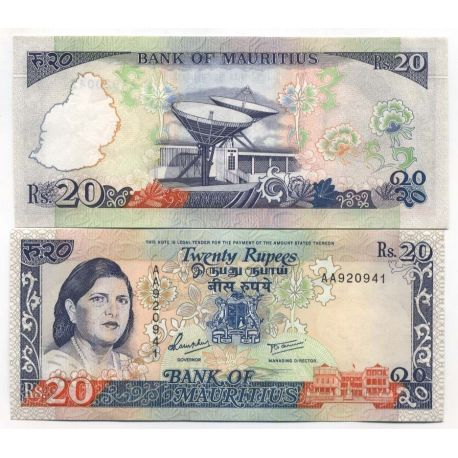 Billets de banque Maurice Pk N° 36 - 20 Ruppees